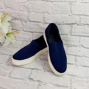 Vince blue canvas sneakers platform